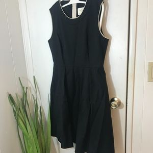 Kate spade classic black dress exposed zipper SZ12
